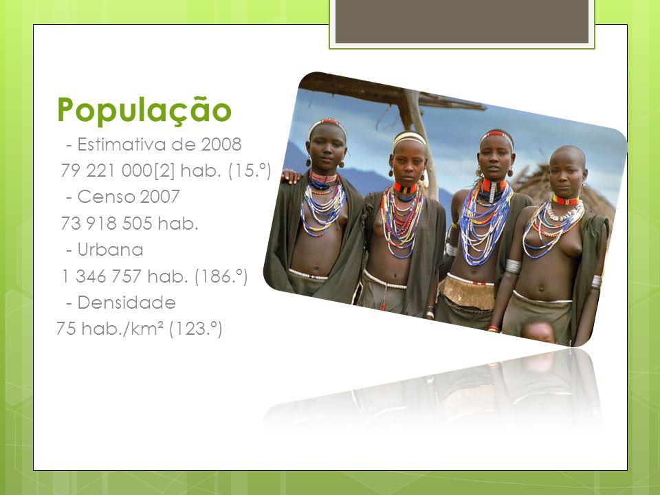 População - Estimativa de 2008 79 221 000[2] hab. (15.º) - Censo 2007